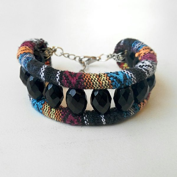 Used New Handmade onyx rope bracelet in Dubai, UAE