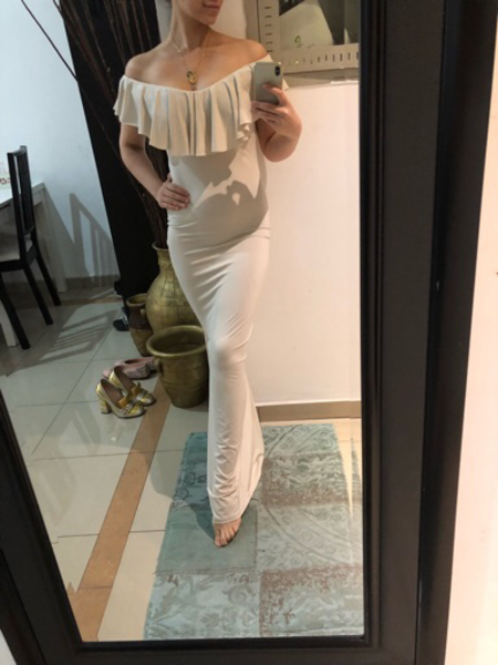 Used Long dress new perfect look  in Dubai, UAE