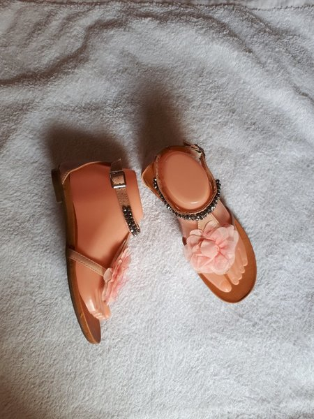 Used Pink silver sandal size-38-39 in Dubai, UAE