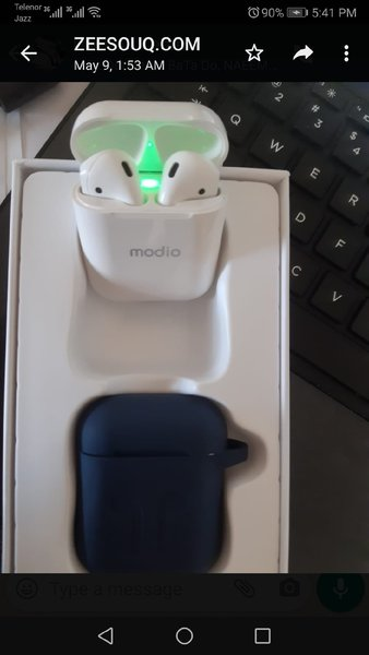 Used MODIO BRAND AIRPODS WITH FREE POUCH in Dubai, UAE