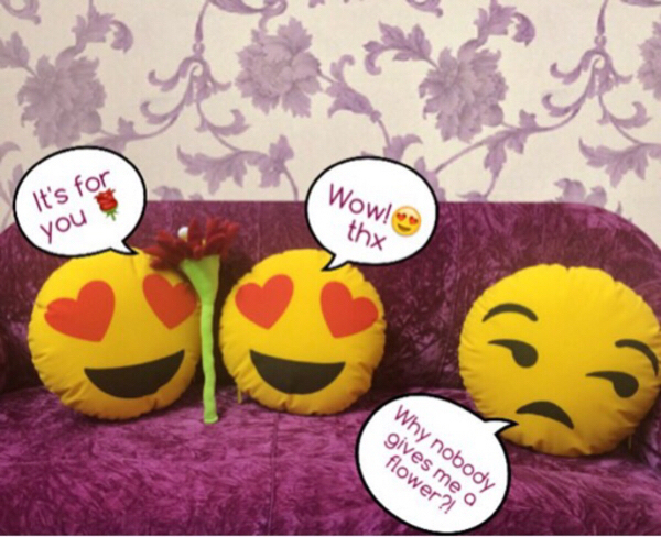 Used 13 pcs Emoji Pillow / bag/storage/cover in Dubai, UAE