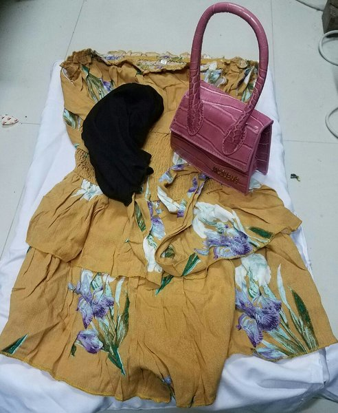 Used Ladies  dress , kids short  an handbag in Dubai, UAE