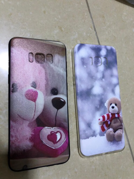 Used Two cute teddy cases for S8+ in Dubai, UAE