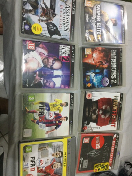 Used PS3 with 11 games  in Dubai, UAE