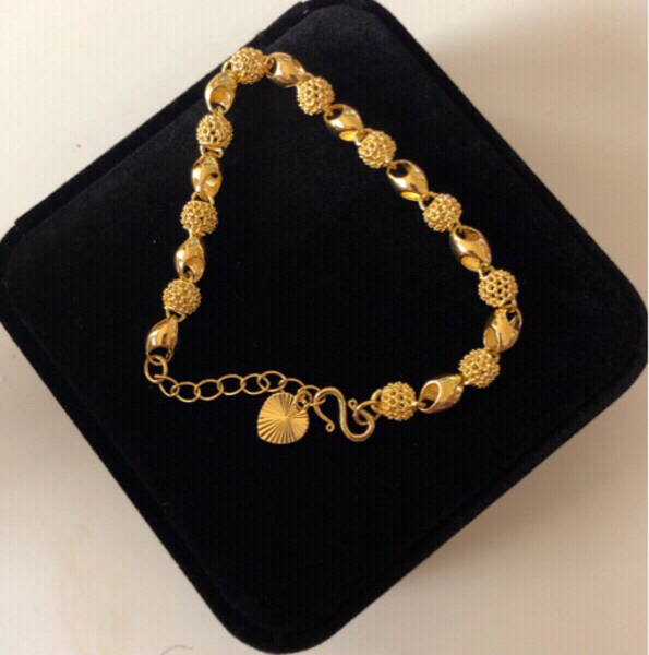 Used Hollowed- Out Beads Bracelet x 2 in Dubai, UAE