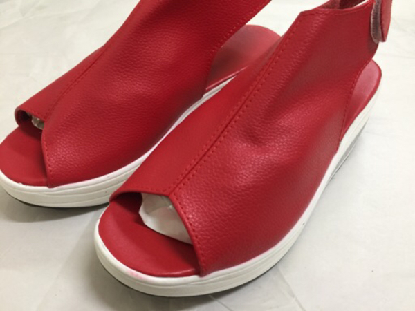 Used Red shoes for ladies size 38 in Dubai, UAE