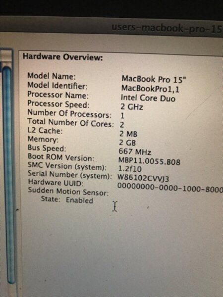 Used Mac book pro 1.1 2gb ram/ 500 gb quick s in Dubai, UAE