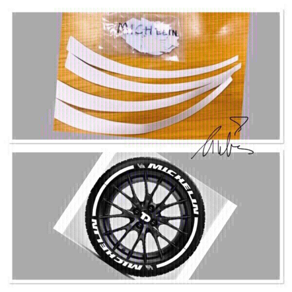 Used 3D Logo car motorcycle Tire Sticke ♏️ in Dubai, UAE