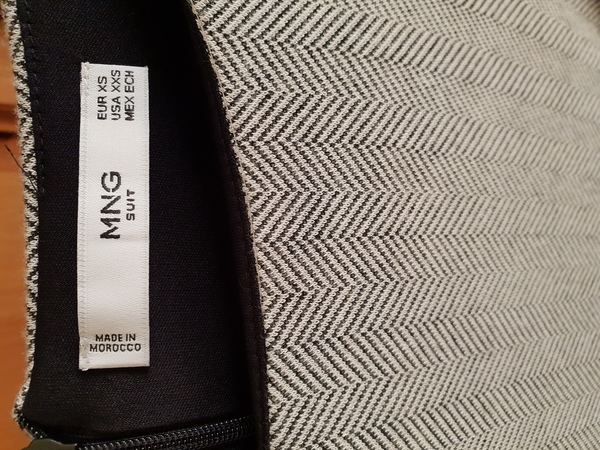 Used Mango Black & Grey Printed Dress in Dubai, UAE