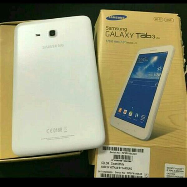 Used Samsung Tab3 Lite(without sim)Original used Scratch less like New With box And Charger....  in Dubai, UAE