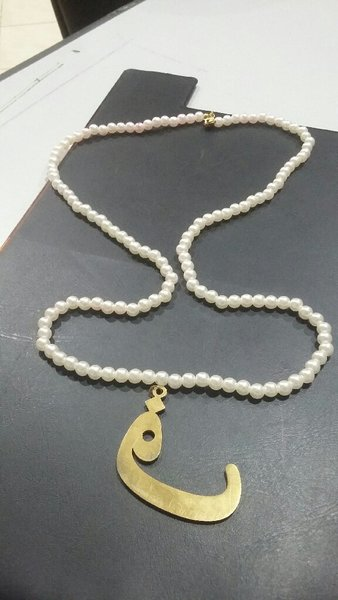 Used Pearl with 18k gold pendant in Dubai, UAE