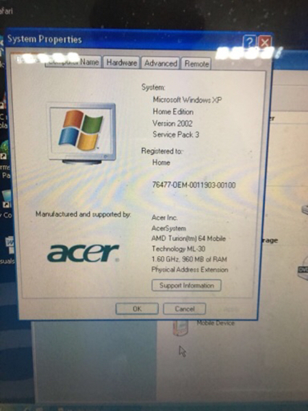 Used Acer Aspire 5000 in working condition in Dubai, UAE