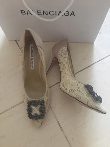 Used Worn once manolo shoes in Dubai, UAE