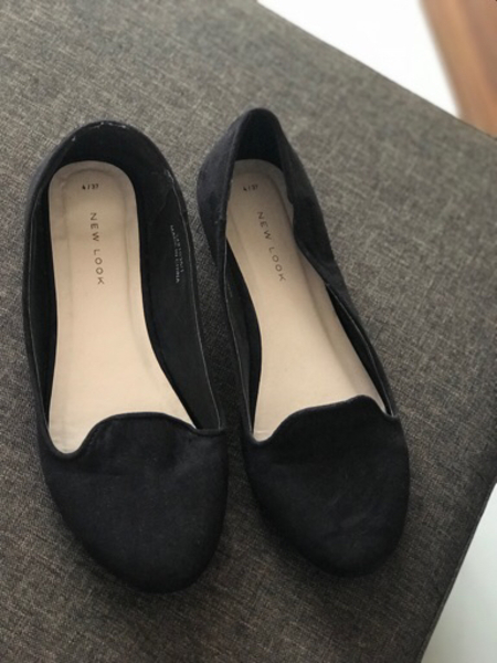 Used Black flats size 37 in Dubai, UAE