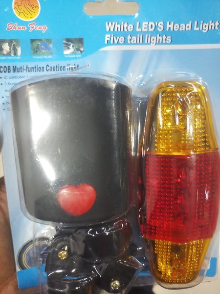 Used Bicycle head and tail light #packed in Dubai, UAE