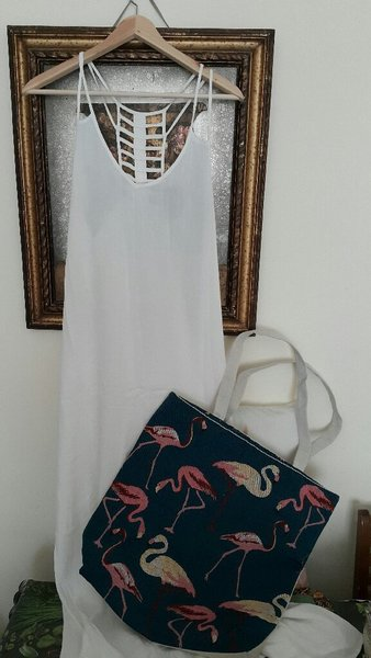Used Beach dress.100%cotton.large size. in Dubai, UAE