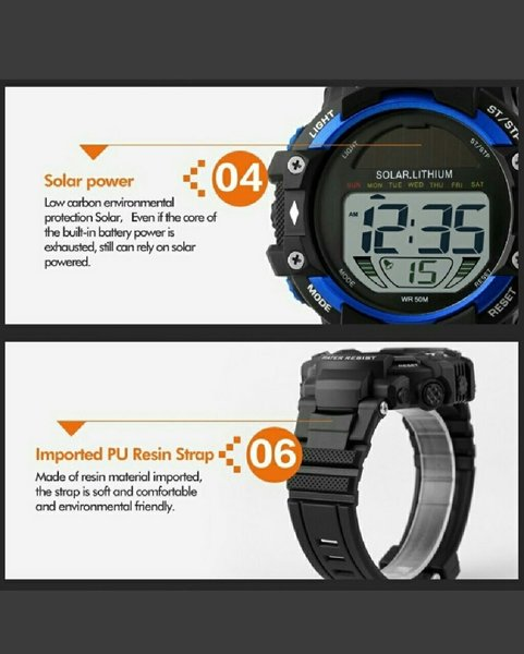 Used Solar Lithium Sports Watch in Dubai, UAE