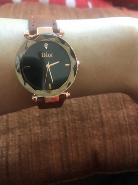 Used Brown Dior Watch ,New , copy  in Dubai, UAE