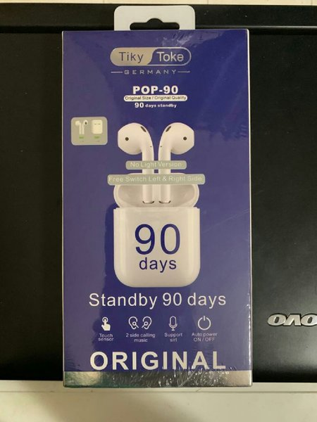 Used Pop 90 airpods with free case in Dubai, UAE