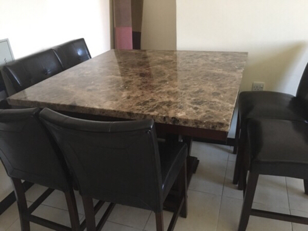 Used Dining table with six chairs in Dubai, UAE