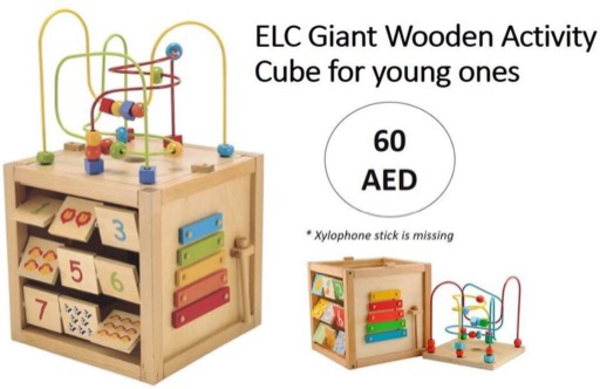 Used ELC giant wooden activity cube in Dubai, UAE