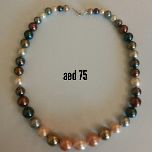 Used Shell pearl silver necklace in Dubai, UAE