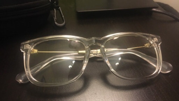 Used Clear Glasses with protector  in Dubai, UAE
