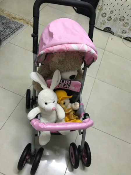 Used Toy Pram along with soft toys in Dubai, UAE