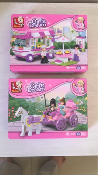 Used Brand New Girls Building Bricks. 2Pcs in Dubai, UAE