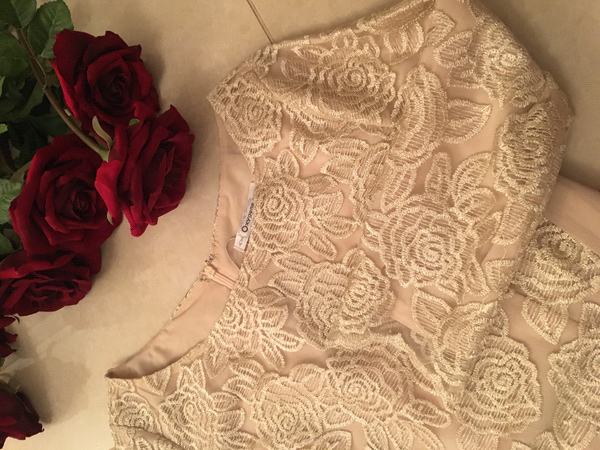 Used  New Gold floral cocktail dress in Dubai, UAE