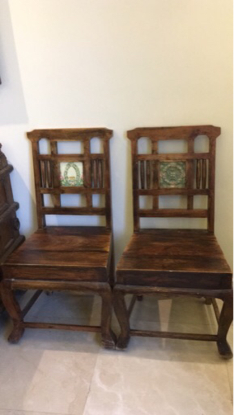 Used Antique styled solid wooden chairs  in Dubai, UAE