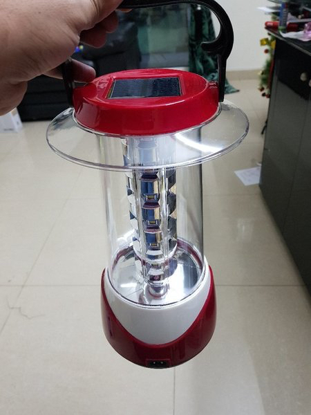 Used Geepas recharveable solar LED lantern in Dubai, UAE