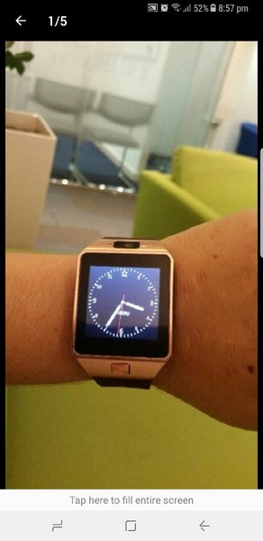 Used Smart Watch 2 Pcs Gold & Silver With Box in Dubai, UAE