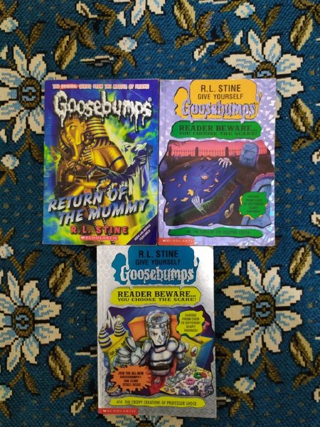 Used 7x Goosebumps + 2x ADVENTURE books in Dubai, UAE