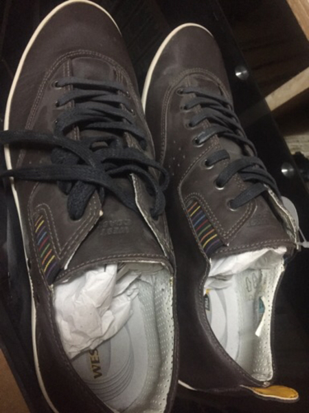 Used West cost shoes brown new in Dubai, UAE