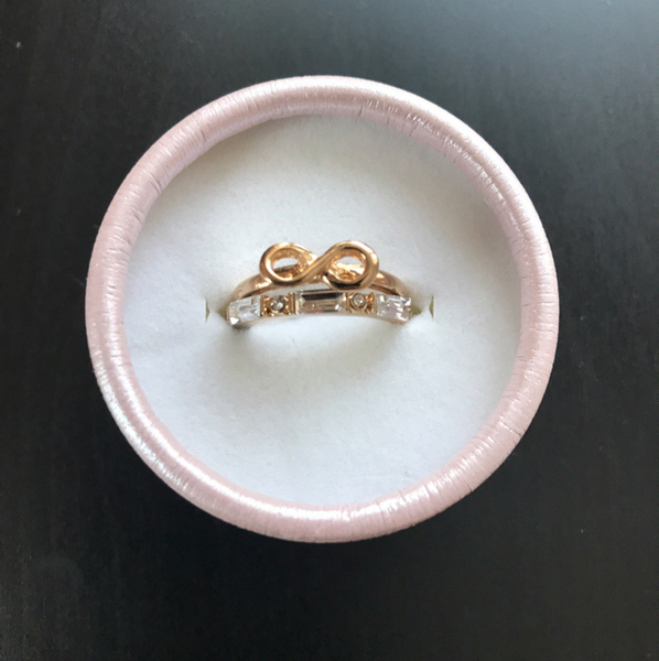 Used Ring Infinity Ring Set Brand New In Gift Box Ready To Be Gifted . All Sizes Available  in Dubai, UAE