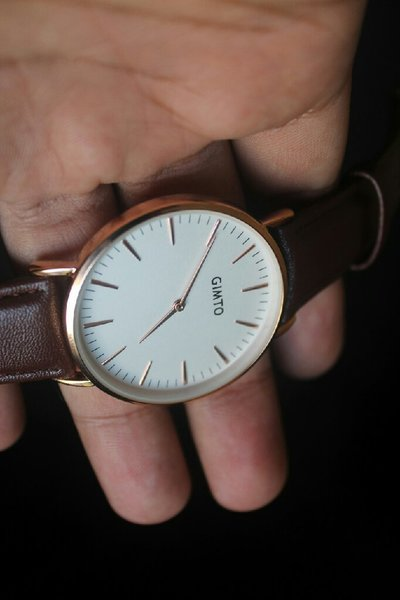 Used GIMTO watch in genuine Leather Strap in Dubai, UAE