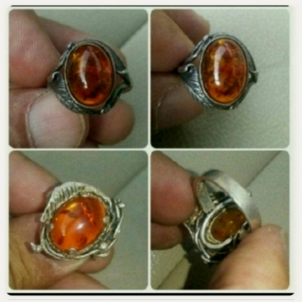 Used Old silver Ring with rare Kahraman Stone in Dubai, UAE
