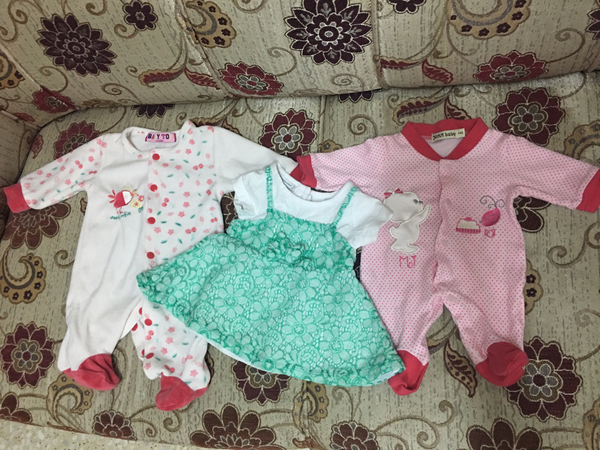Used Baby's branded clothes for girl 0-3months (used) in Dubai, UAE