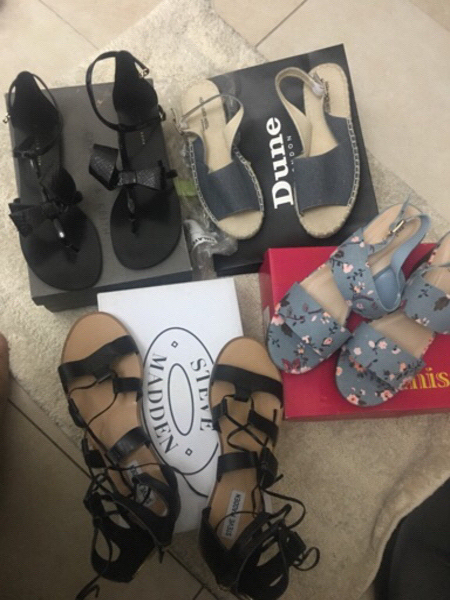 Used 4 brand new high end shoes size 40  in Dubai, UAE