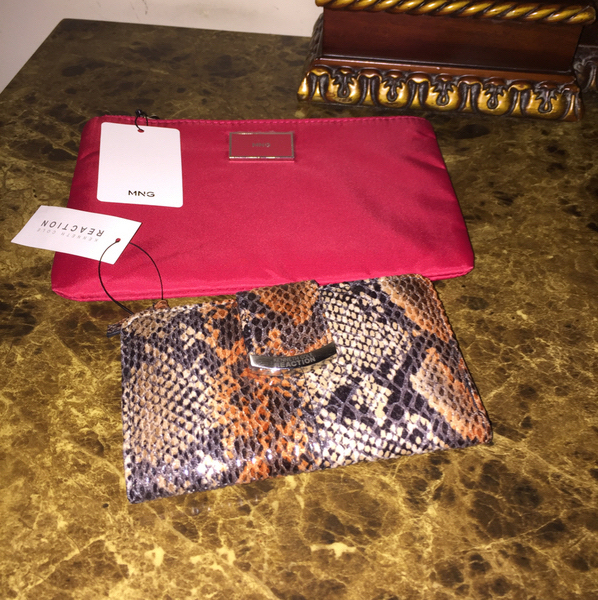 Used Kenneth Cole Wallet And Mango Pouch New Never Use Still Tag On in Dubai, UAE