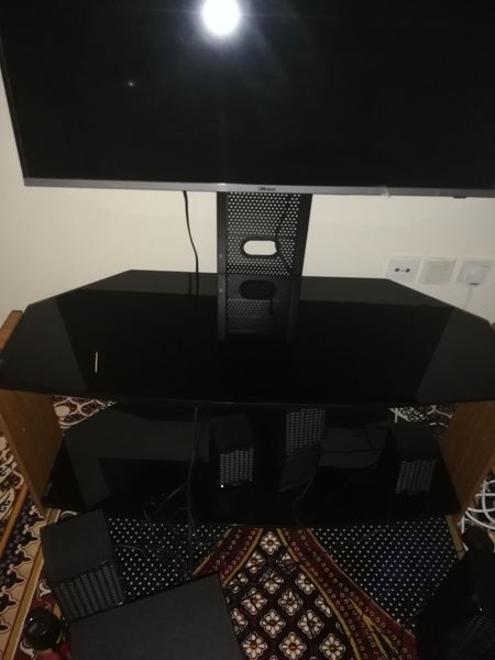 Used Television, woofer and television stand in Dubai, UAE