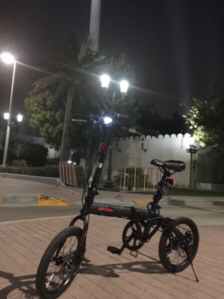 Used upten folded bike 16 inches with helmet in Dubai, UAE