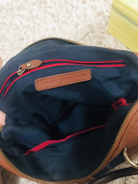 Used Tommy Hilfiger genuine leather bag in Dubai, UAE