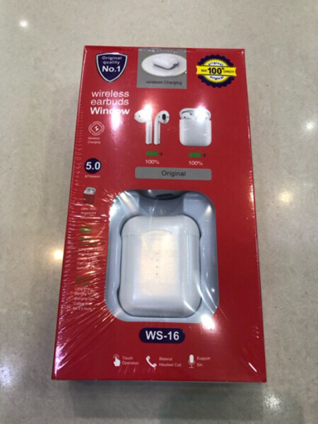 Used Airpods Wireless Earbuds + case WS-16 in Dubai, UAE