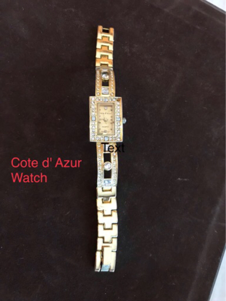 Used Cote d Aruz branded gold watch in Dubai, UAE