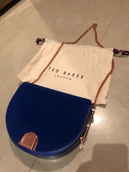 Used Authentic Ted Baker Moon Suede Bag in Dubai, UAE