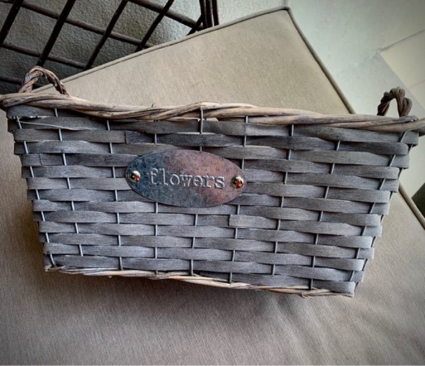 Used Two woven flower baskets in Dubai, UAE