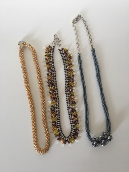 Used Handmade embroidered necklaces  in Dubai, UAE