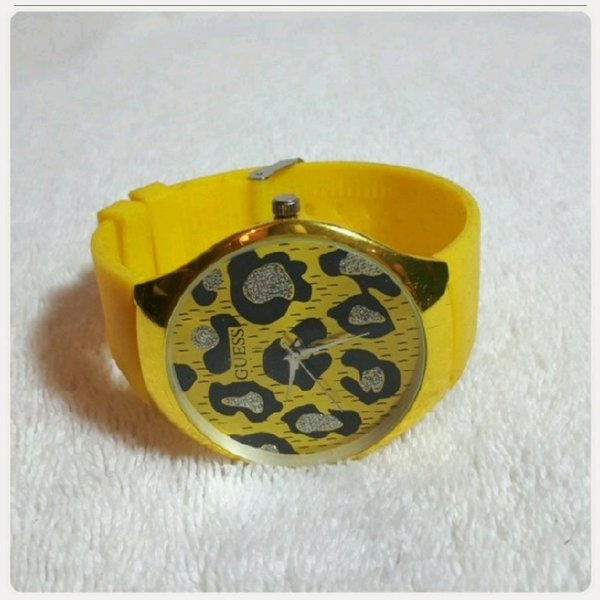 Used GUESS yellow watch in Dubai, UAE